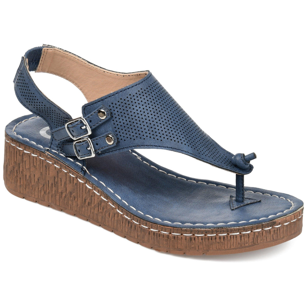 MCKELL Sandals Journee Collection Blue 8