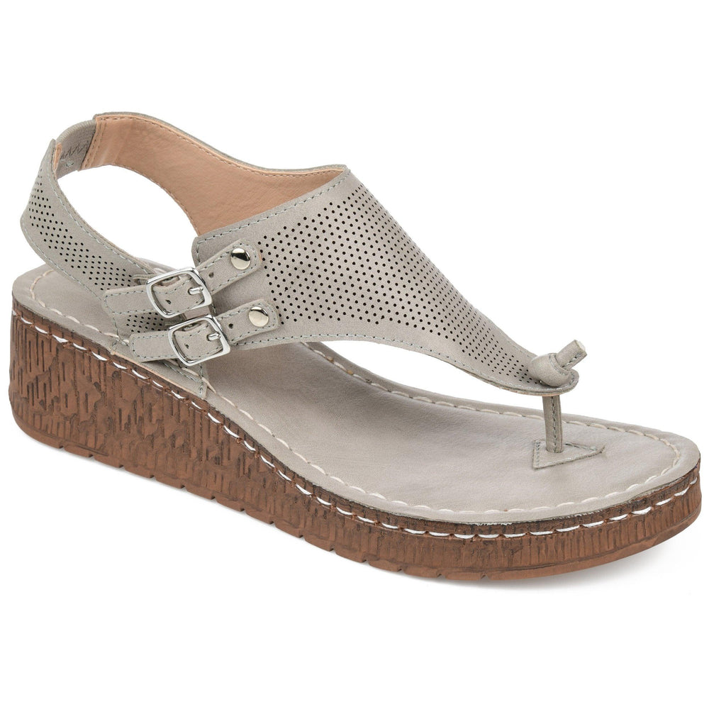 MCKELL Sandals Journee Collection Grey 6