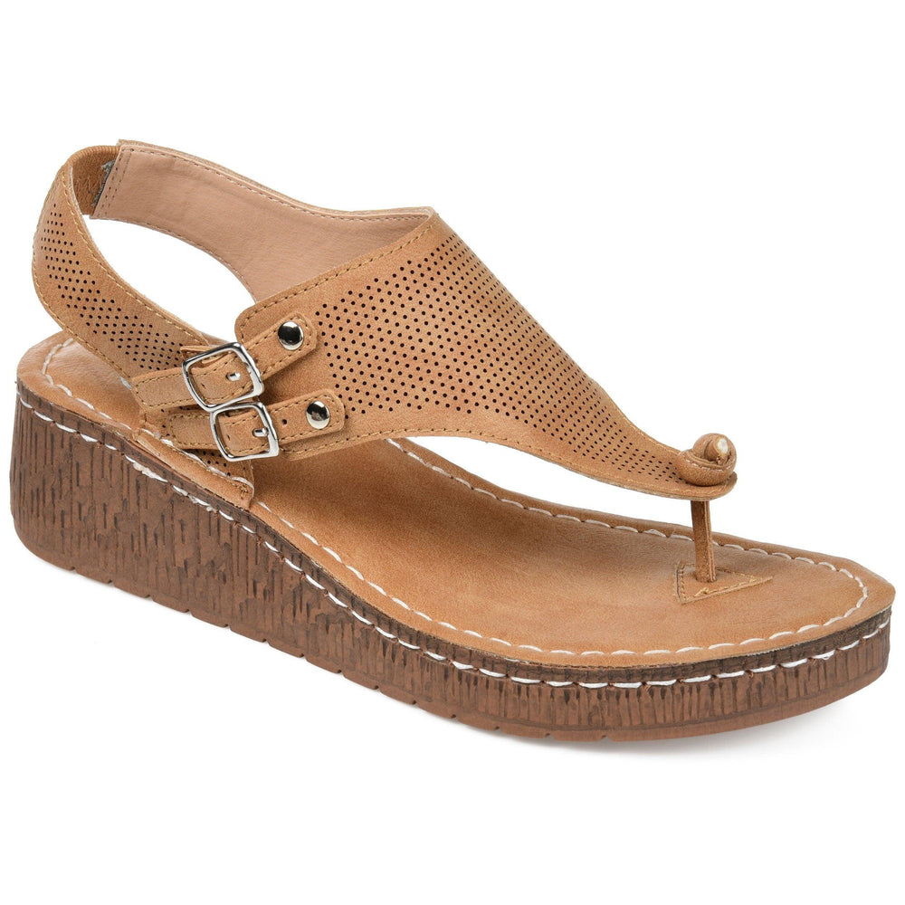MCKELL Sandals Journee Collection Tan 5.5
