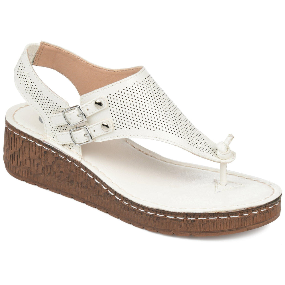 MCKELL Sandals Journee Collection White 7.5