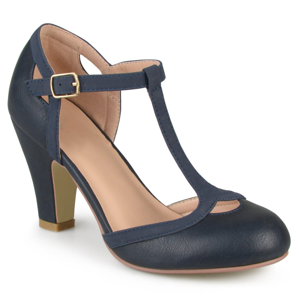 OLINA WIDE WIDTH Shoes Journee Collection Navy 6