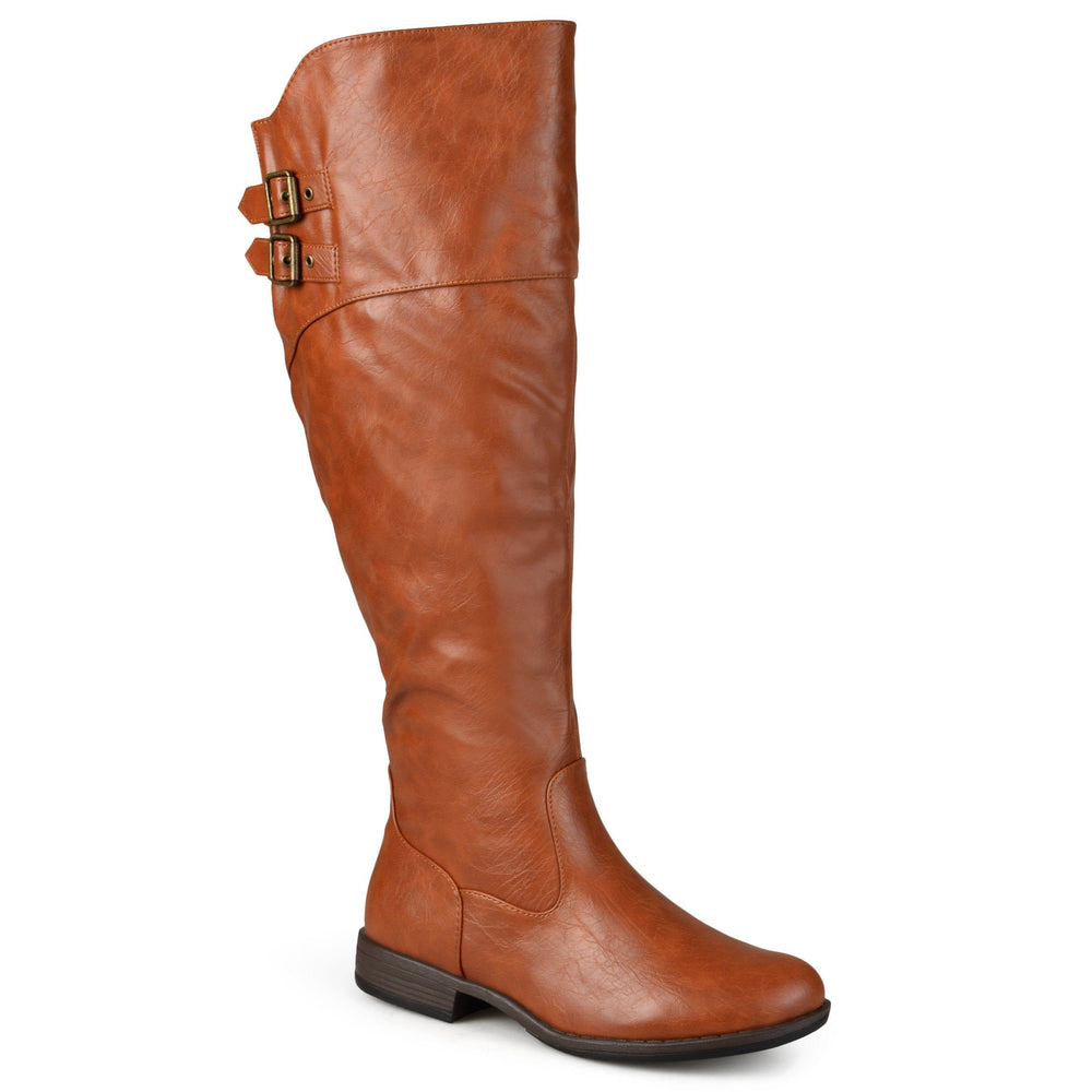 TORI EXTRA WIDE CALF Journee Collection Chestnut 7