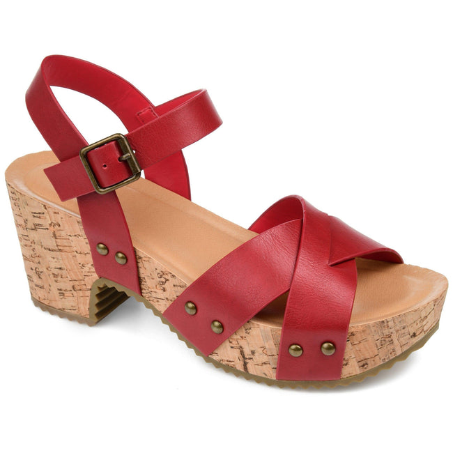 VALENTINA Shoes Journee Collection Red 5.5