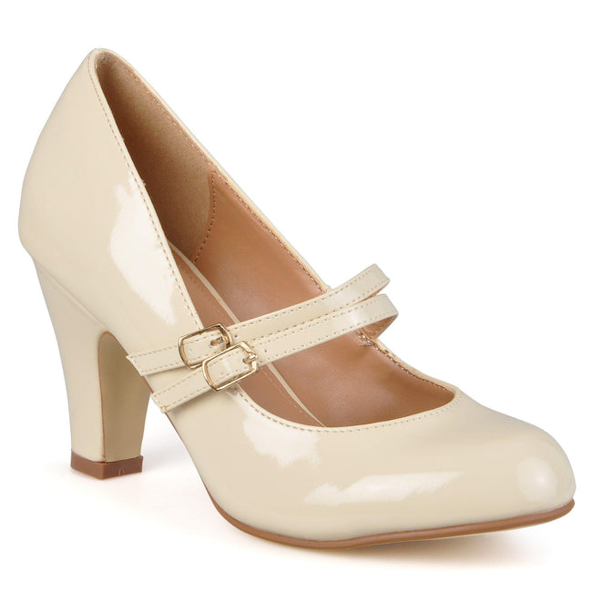 WENDY-09-WIDE WIDTH Shoes Journee Collection Beige Patent 7