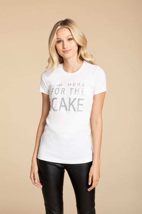 Hayley Paige Athleisure T-Shirt - I'm Here for the Cake - Adult