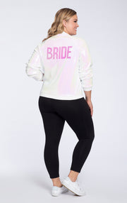 Hayley Paige Athleisure Bomber Jacket - Bride -Backordered until December 7th.