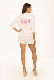 Hayley Paige Athleisure Bomber Jacket - Bride
