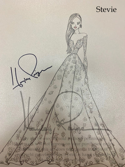Stevie- Hayley Paige Bridal Gown Printed Sketch