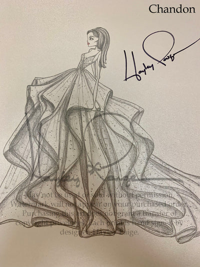 Chandon- Hayley Paige Bridal Gown Printed Sketch