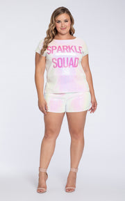 Hayley Paige Athleisure T-Shirt Set - Sparkle Squad-