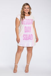 Hayley Paige Athleisure Long T-Shirt - Wedding Day Squad