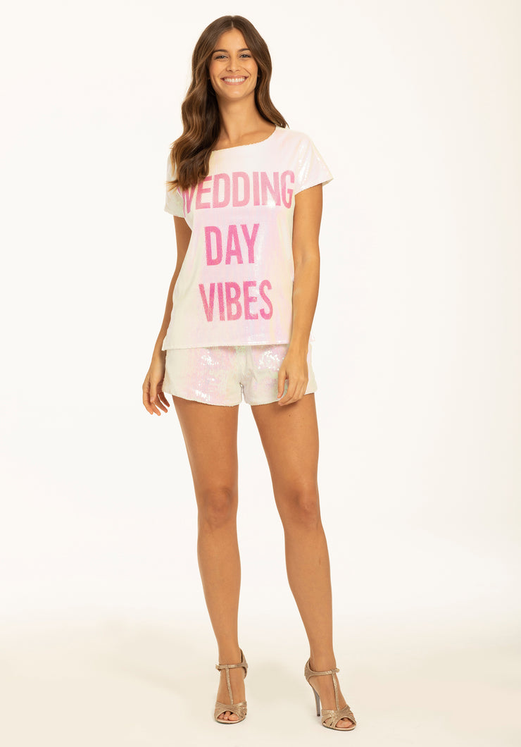 Hayley Paige Athleisure T-Shirt Set - Wedding Day Vibes