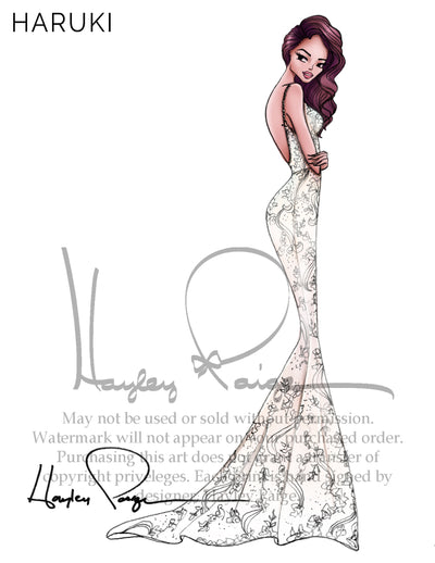 Haruki - Hayley Paige Bridal Gown Printed Sketch