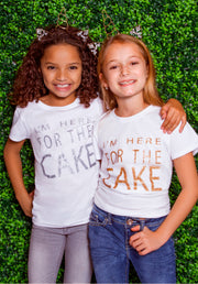 Hayley Paige Athleisure T-Shirt - I'm Here for the Cake - Youth