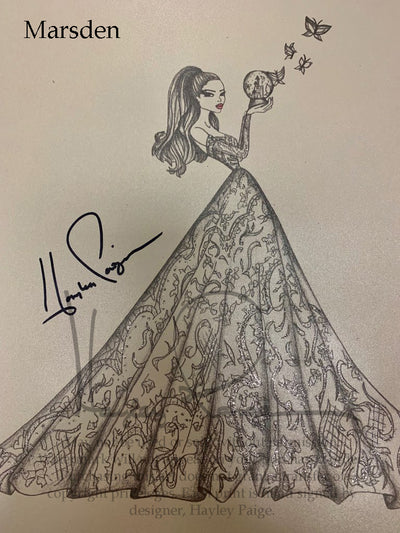 Marsden- Hayley Paige Bridal Gown Printed Sketch