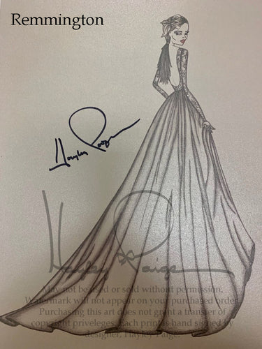Remmington- Hayley Paige Bridal Gown Printed Sketch
