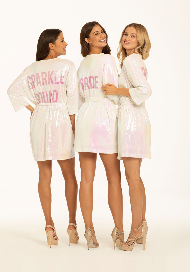 Hayley Paige Athleisure Robe-  Bride