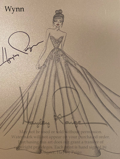 Wynn - Hayley Paige Bridal Gown Printed Sketch