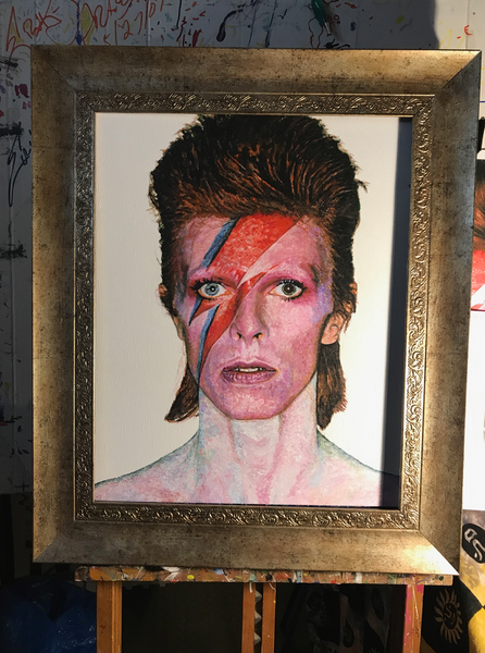 David Bowie Original Painting with Frame