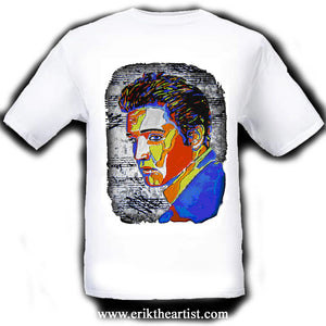 Elvis Presley White T-Shirt artwork by Erik the Artist