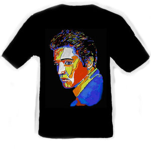 Elvis Presley Black T-Shirt artwork by Erik the Artist