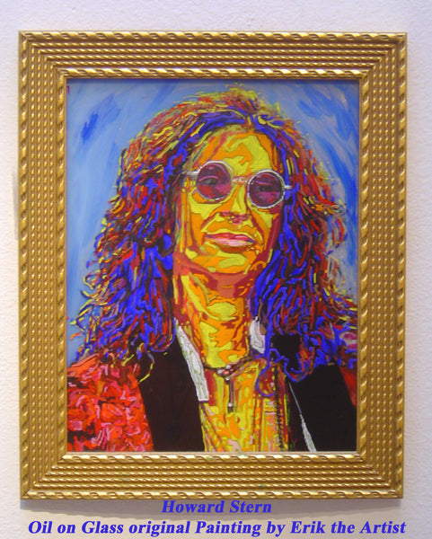 Howard Stern oil on glass Original Painting