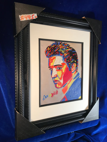 Elvis Presley framed signed