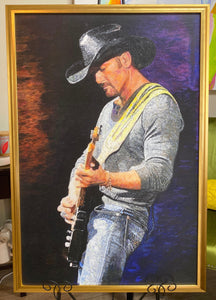 Tim McGraw Painting Hand Finished