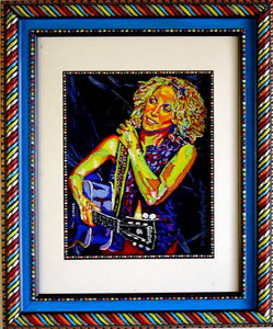 Sheryl Crow oil on glass original painting