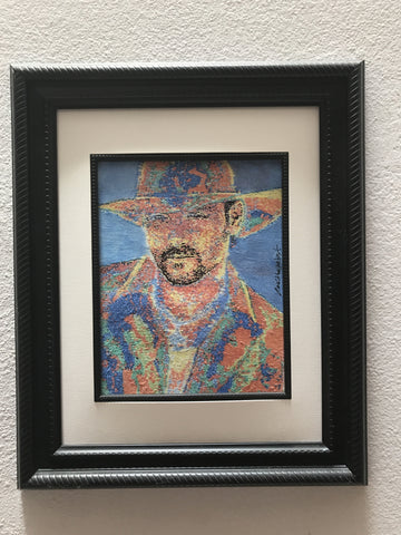 Tim McGraw painting ships framed as pictured