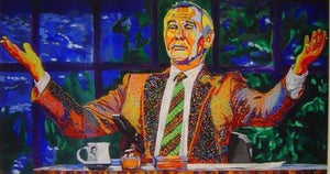 "Johnny Carson Painting Canvas 24""x36"