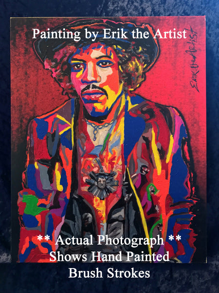 Jimi Hendrix Hand Painted and Signed