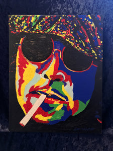 Hand Painted John Lennon on Canvas