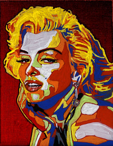 Marilyn Monroe Ink on Canvas Painting