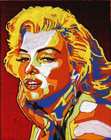 Marilyn Monroe Hand Painted Canvas
