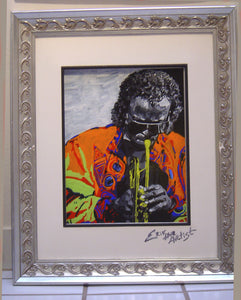 Miles Davis oil on glass Original Painting