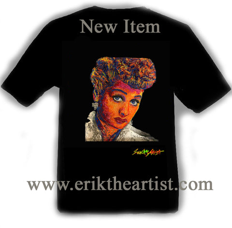 NEW ITEM - Lucy Painting Black T-Shirt Artwork by Erik the Artist