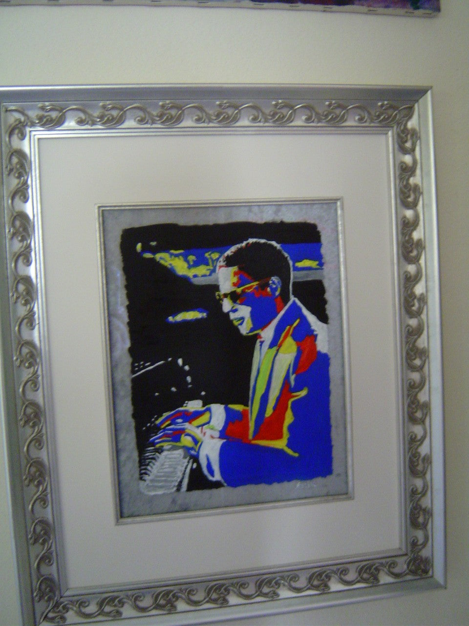 Ray Charles oil on glass Original Painting