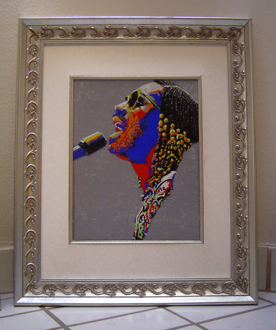 Stevie Wonder oil on glass Original Painting