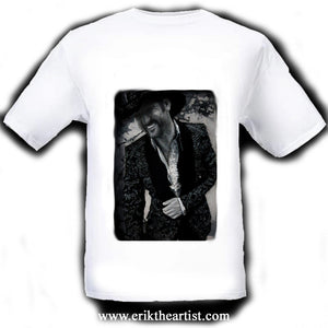 Tim McGraw White T-Shirt artwork by Erik the Artist