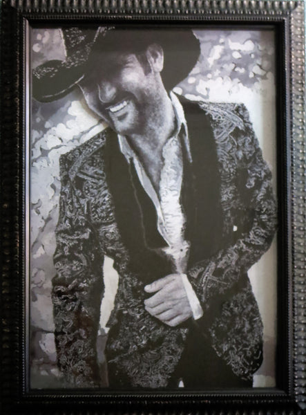 Tim McGraw Multi-Dimensional Illuminated Painting Framed