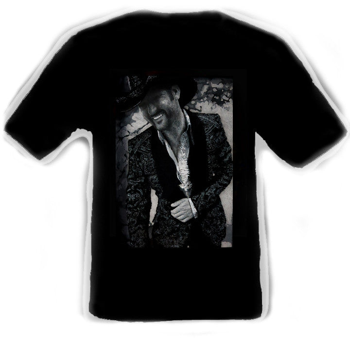 Tim McGraw Black T-Shirt artwork by Erik the Artist