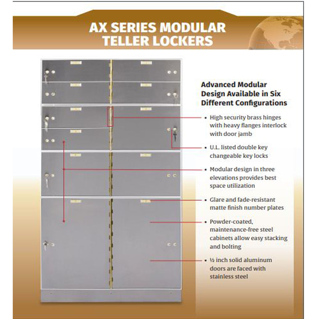 AX SERIES MODULAR TELLER LOCKERS
