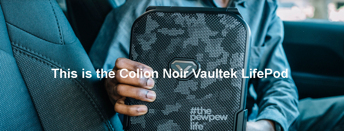 Vaultek LifePod Rugged Airtight Weather-Resistant Storage (Colion Noir Edition)