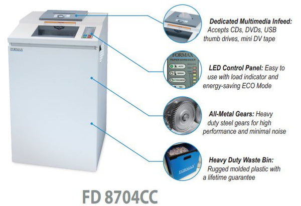 OnSite FD 8704CC Multimedia Shredder