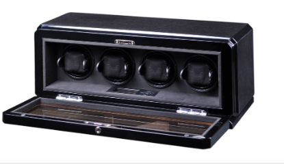 Volta - 31570040 4 Watch Winder- Black Oak