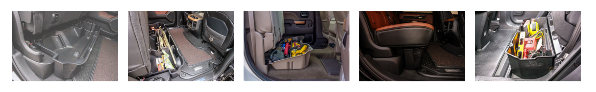DU-HA 2007-2013 Chevy Silverado/GMC Sierra Extended Cab Underseat Cab Storage Armadillo Safe and Vault