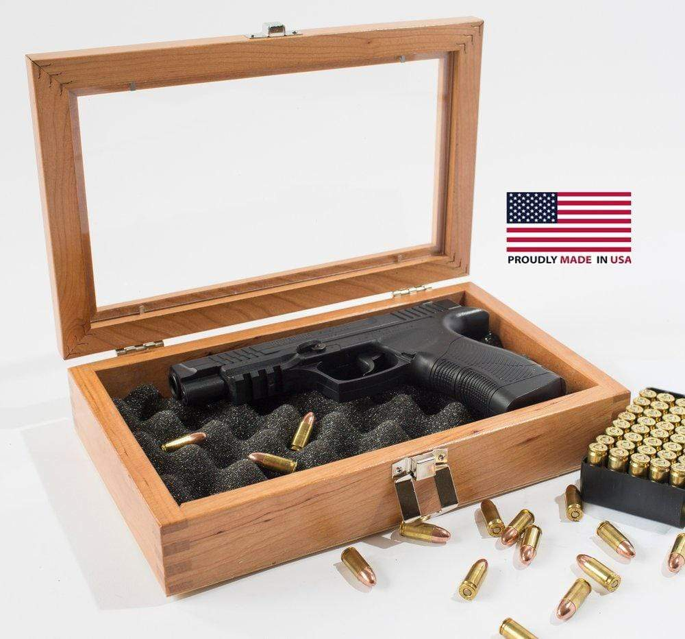 American Chest Single Pistol Display Gun Case Armadillo Safe and Vault