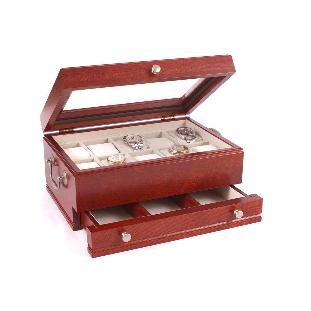 American Chests CAPTAIN - 10 Watch Chest Armadillo Safe and Vault