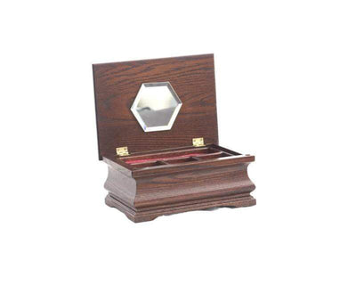American Chests #JLL LITTLE LADY - Jewelry Chest, Amish Crafted Armadillo Safe and Vault